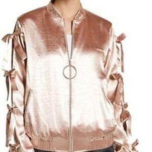 💲✂️ RO & De Satin bomber jacket with bows